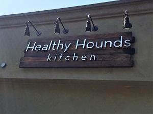 Healthy Hounds Kitchen Signage