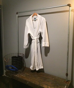 picture of robe in floatation therapy room