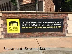 Photo of Memorial Auditorium Signage