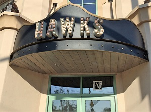Picture of Hawks Public House sign