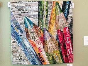 Picture of Pixeladies art quilt - Language of Color