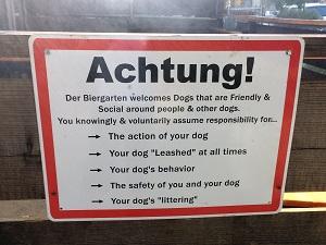 Picture of Der Biergarten Dog Rules