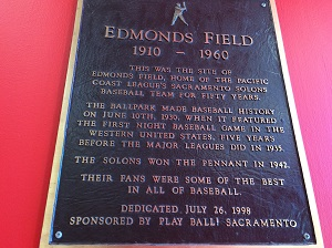 Photo of the Edmonds Field Plaque