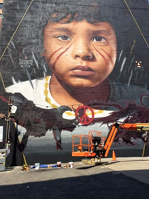 Picture of Wide Open Walls mural by Artist Jordit Agoch
