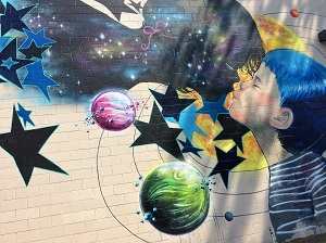 Picture of Wide Open Walls mural by Artist Lora Zombie