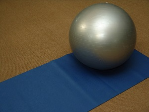 Picture of exercise ball and mat
