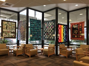 Picture of quilts available at the Sutter Cancer Center Quilt Auction