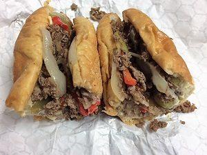 Picture of Suzie Burger cheesesteak sandwich