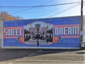 Picture of mural on Sacramento Walking Sticks New Year's Day Walk