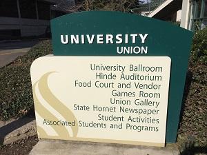 Picture of signage at Sacramento State University - Sacramento Renaissance Society