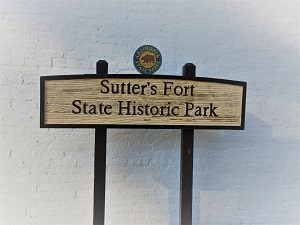 Picture of Sutter's fort Signage