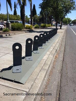 Photo of empty JUMP Bikes bike rack