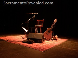 Photo of stage at the Peppino D'Agostino concert