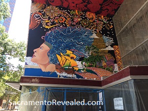 Photo of Tower Records Mural on K Street During Restoration