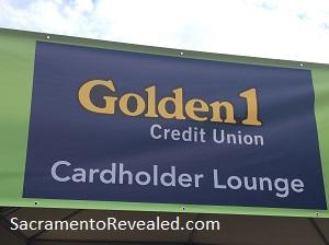 Photo of Sacramento Farm-to-Fork Festival Golden I Cardholder Lounge Sign