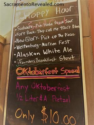 Photo of Der Biergarten Hoppy Hour Beer List
