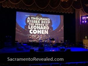 Photo of Leonard Cohen Crest Theatre Stage