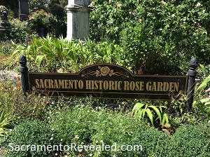 Photo of Old City Cemetery Historic Rose Garden Signage