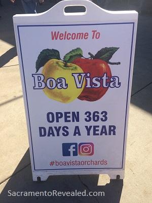 Photo of Apple Hill Boa Vista Sign