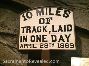 10 Miles of Track Laid, California State Railroad Museum