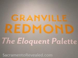 Photo of Granville Redmond Signage