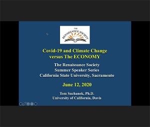 Photo of COVID-19 & Climate Change v. the Economy slide