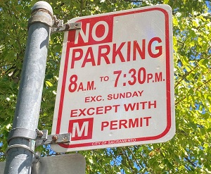 Photo of Orphan Breakfast House Restricted Parking Sign
