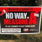 Photo of Sacramento Strong Mayor Initiative lawn sigh