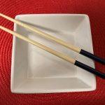 Photo of chopsticks & square dish