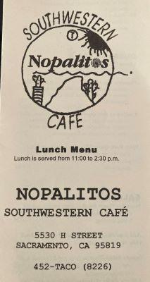 Photo of Nopalitos Southwestern Cafe menu