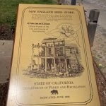 Photo of New England Seed Store plaque the first camellia