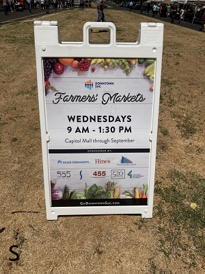 Photo of Capitol Mall Farmers Market sign