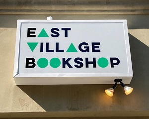 Photo of East Village Bookshop sign