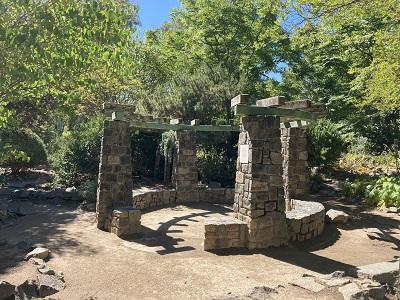 WPA Rock Garden Arbor
