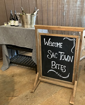 Photo of SacTown Bites welcome sign, Taste of the Delta Tour
